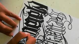 Boceto Graffiti - Lettering Malandro-
