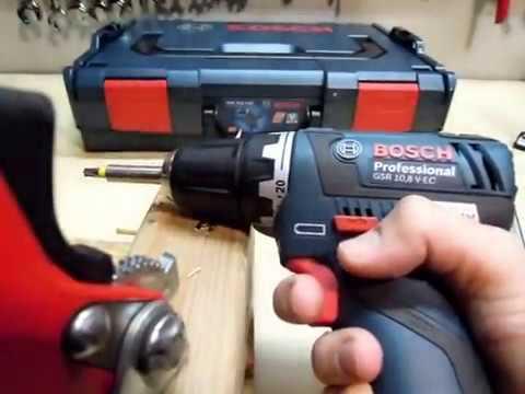 Bosch Professional GSR 10,8 V EC, Der Akkuschrauber ist einfach klasse
