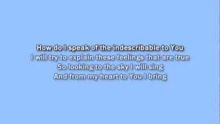 Kutless - All the Words karaoke