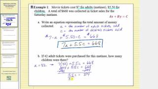 Application:  Writing Linear Equation in General Form (Part 1)