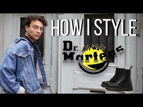 How I Style Dr. Martens | Grunge Outfits | Mens Fashion | Antonio Valdezi