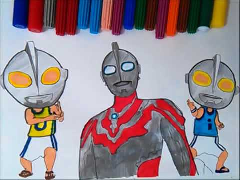 Upin Ipin Ultraman Ribut Coloring Pages Colouring For Kids Learn Colors 2017
