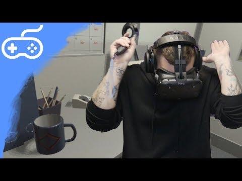 NEJPODIVNĚJŠÍ HOROROVÁ HRA VE VR! - The Cubicle. (HTC Vive)