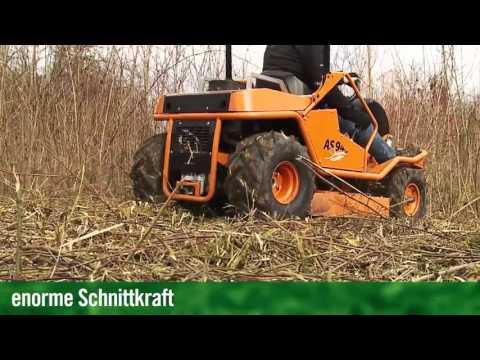 AS-Motor AS 940 Sherpa 4WD XL Aufsitzmäher Gestrüppmäher Hochgrasmäher im Einsatz