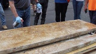 Concrete Countertops - Stain with Aqua-Stain UV