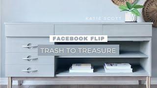 FACEBOOK FLIP | Furniture Makeover With Rust-Oleum Chalked