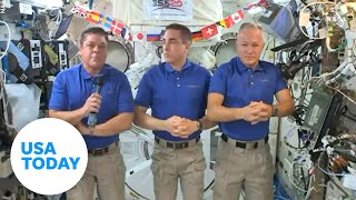History-making astronauts aboard the International Space Station discuss return to Earth | USA TODAY