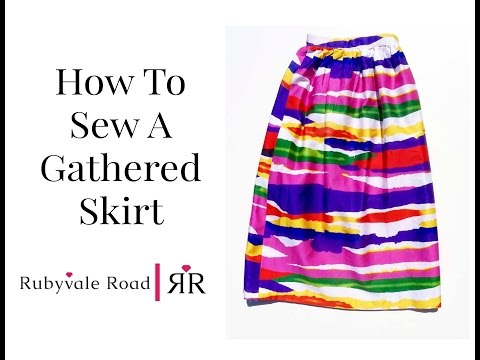 How To Sew A Gathered Skirt No Pattern Needed Learn To Sew