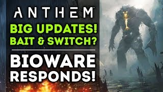 Anthem - BIG UPDATE! Bioware on Bait and Switch Microtransactions & Lootboxes! New Gameplay Info!