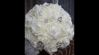 How To Make Brooch Bouquet L DIY Bouquet Kit SPARKLES L No Wires  Very Easy Tutorial