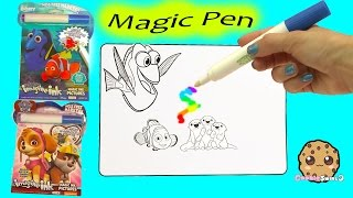 Disney Pixar Finding Dory + Paw Patrol Imagine Ink Rainbow Color Change Pen  Surprise Pictures Book