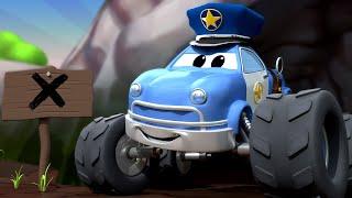 Monster Město -  Monster Detektiv Marek a lákavá vůně dobrůtek!   Monster truck animáky
