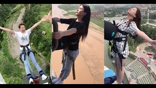 How Do Asian Women React When They Do Bungy Jumping
