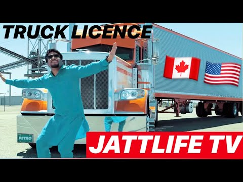 PUNJABI TRUCKERS GOING USA ON TRUCK FROM CANADA  JATTLIFE TRUCKLIFE