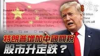 【3個中產黨】特朗普增加中國關稅 股市升定跌?