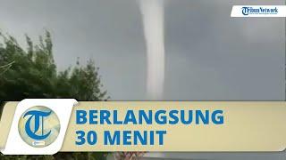 Video Detik-detik Angin Puting Beliung di Pantai Kenjeran Surabaya, Berlangsung 30 Menit