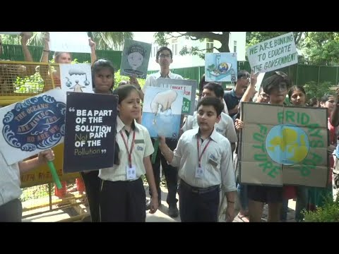 Fridays for Future: Children in India take part in climate protest | AFP