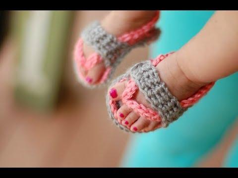 CROCHET TUTORIAL: Baby Flip Flops