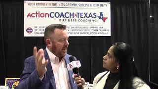 Bradley Clark from Action Coach of Texas speaking to iAsianews at Small Business Expo 2020.