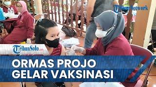 Dukung Percepatan Vaksinasi Pemerintah, Ormas Projo Pasok 1.500 Vaksin untuk Warga Boyolali