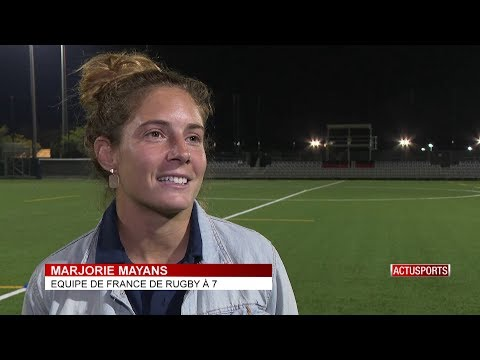 Women's Rugby Sevens: Marjorie Mayans pays a visit to the Monegasques
