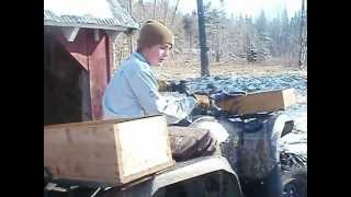 preview picture of video 'Just Another Day On The Farm (Loading Wood at the House)'