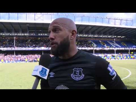 Tim Howard's emotional goodbye to Goodison Park
