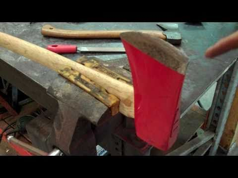 Sharpen A Splitting Axe After Every Use For Cleaner Cuts