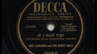 Judy Garland 'If I Had You' 1945 78 rpm