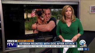 Veteran reunited with dog after attack