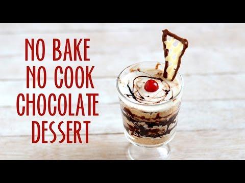 CHOCOLATE DESSERT RECIPE – No Bake No Cook Competition Recipe