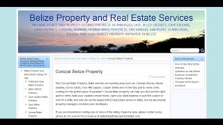 preview picture of video 'Corozal Belize Property Real Estate Video Tour'