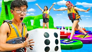 We Built A GIANT GAMEBOARD On WATER!