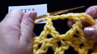 """22 Урок. """"Рогатка перевернутая"""". Техника быстрого вязания. Крючок для начинающих."""
