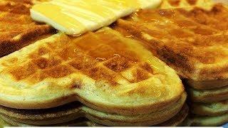 Вкусные Домашние Вафли Рецепт.Самый лёгкий базовый рецепт - как быстро приготовить вкусный завтрак