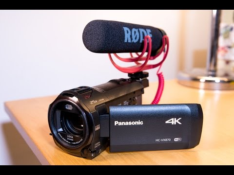 My Affordable YouTube 4K Video Camera - Panasonic HC VX870 Unboxing & Overview