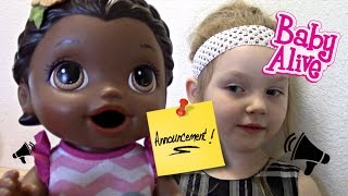 BABY ALIVE makes an ANNOUNCEMENT! The Lilly and Mommy Show