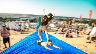 We Created A Giant Slip N Slide At Glastonbury Festival (it Got Crazy)
