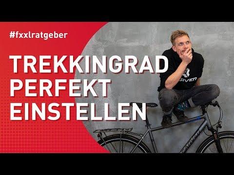 Trekkingrad Sitzposition perfekt am Fahrrad auf Dich einstellen