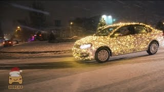 Машина-гирлянда, новые сани Деда Мороза!