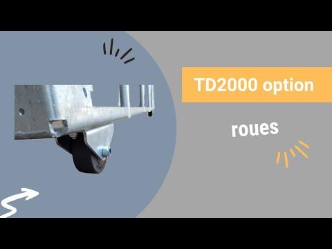 Video Youtube Option 2 roues caoutchouc Ø80 mm sur TD2000