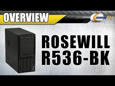 Rosewill Steel ATX Mid Tower Computer Case with 500W Power Supply Overview – Newegg TV