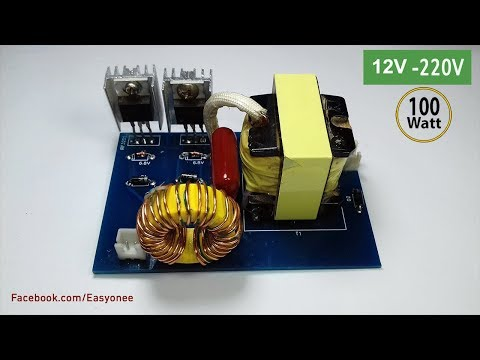 How to make inverter 12V To 220V From ATX Power Supply PCB By pcbway