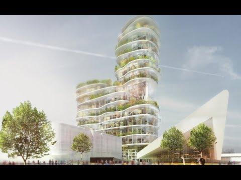 Stad en groen hand in hand in Green Living City