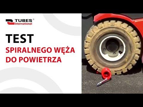 Test spiralnego węża do powietrza - Tubes International - zdjęcie