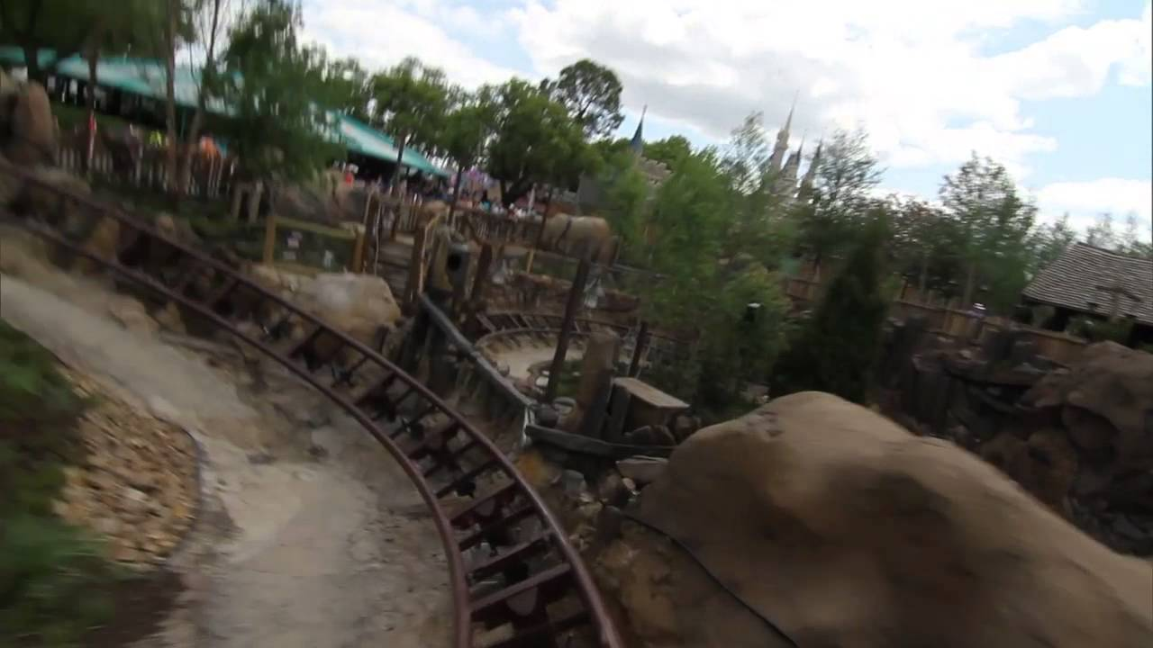Take a ride onboard the Seven Dwarfs Mine Train coaster
