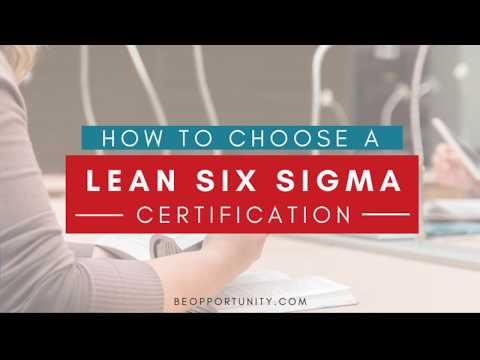 How much does a Lean Six Sigma Certification Cost? - YouTube