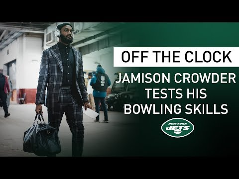 Off The Clock: Jamison Crowder Hits The Bowling Alley | New York Jets | NFL