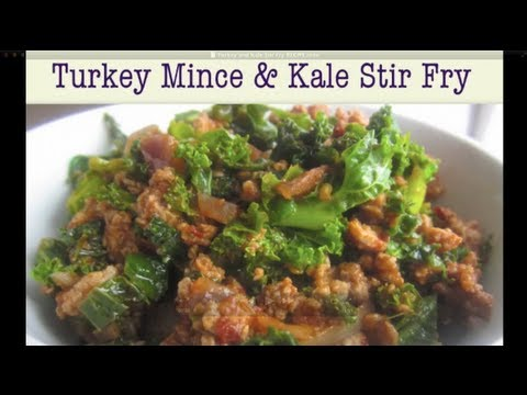 Video Turkey Mince and Kale Stir Fry (Healthy Recipe)