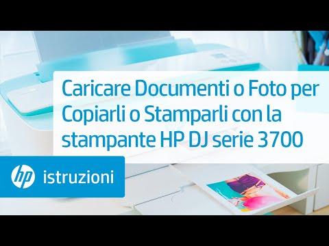 Caricare Documenti o Foto per Copiarli o Stamparli con la stampante HP DeskJet serie 3700